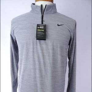 Nike Men's Breathe Dri-Fit 1/4 Zip Long Sleeve